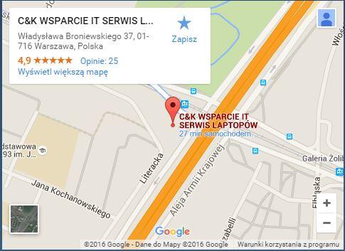 C&K - Serwis Laptopów i Komputerów Warszawa Żoliborz mapka